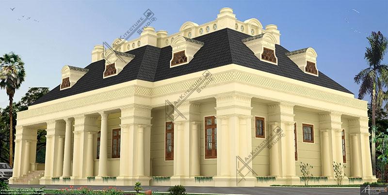 sigle floor luxury house, khd, kerala house plan