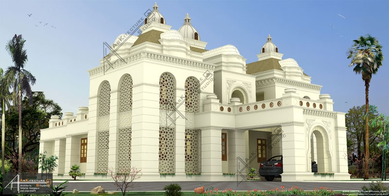 luxury kerala style home design _islamic architecture homes _ villa in islamic architecture india_modern islamic house architecture,arabic style indin homes
