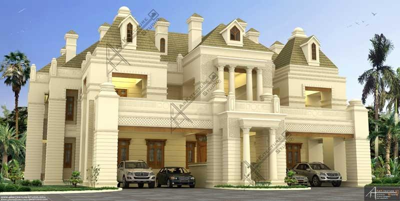 colonial kerala home design, home design kerala, architect in kerala, luxury Bungalow design, arabic villa, kerala home design, arabic style villa in kerala, biggest home in kerala, nazeer khan calicut