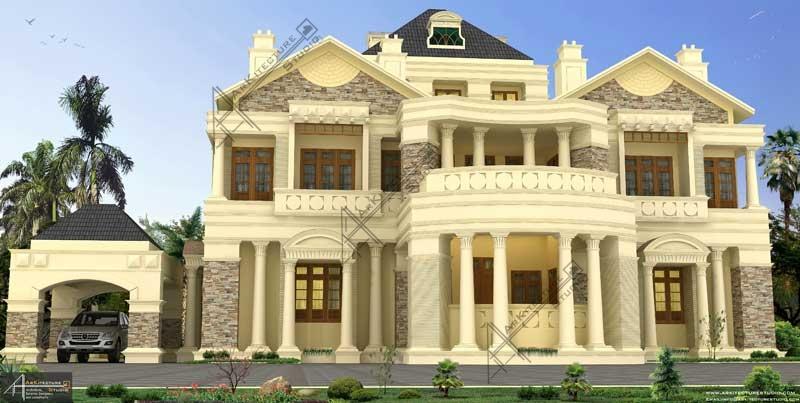architect in kerala, kerala homes, luxury exterior design, leading architect in kerala