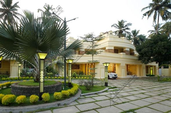villa project in kerala, luxury-kerala-villa-dsigns, colonial villa designs