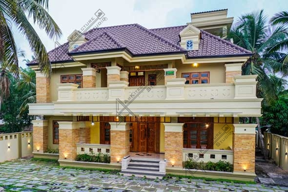 colonial style home photos, luxury kerala homes