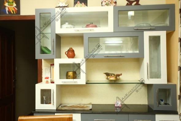 crockery shelf design-modern style